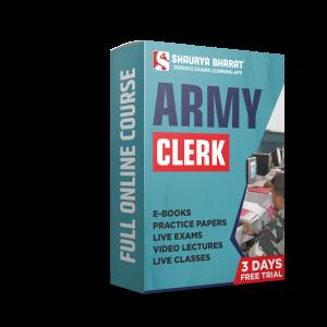 Army Clerk full online course-shaurya bharat app
